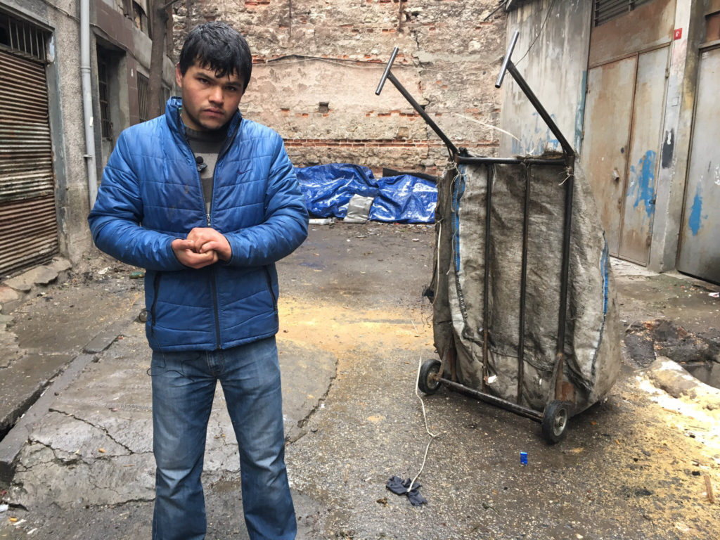With Turkish employers increasingly refusing to pay Afghan workers, greater numbers of Afghan refugees have turned to collecting trash on the streets of Istanbul to repay the cost of the journey to Turkey